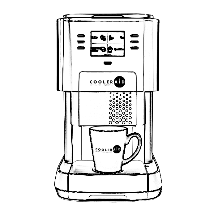 Outline of the Flavia Coffee machine 3