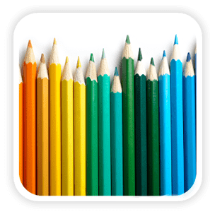 Education Sector Mega menu image of colouring pencils